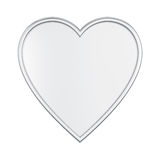 3D illustration isolated silver heart. On a white background Stock Photo