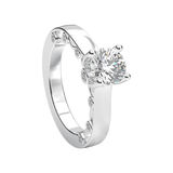 3D illustration isolated white gold or silver romantic ring Royalty Free Stock Photography