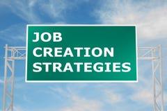 Job Creation Strategies concept Stock Image