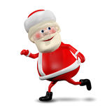 3D illustration Jolly Santa Claus royaltyfri illustrationer