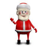 3D illustration Jolly Santa Claus Royaltyfria Foton