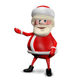 3D illustration Jolly Santa Claus vektor illustrationer