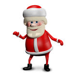 3D illustration Jolly Santa Claus Arkivbilder