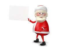 3D Illustration Jolly Santa Claus mit weißem Hintergrund Stockfotografie