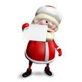 3D Illustration Jolly Santa Claus with  White Background Stock Photo