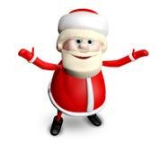 3D Illustration Jolly Santa Claus Royalty Free Stock Photos
