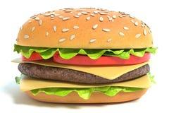 Juicy Cheeseburger Sancwich Stock Image
