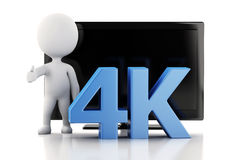 3d illustration. 4K UltraHD TV. Technology concept. Royalty Free Stock Photo