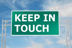 KEEP IN TOUCH concept. 3D illustration of KEEP IN TOUCH script on road sign Royalty Free Stock Image