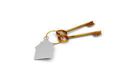 3d illustration of a key to the door, happiness, love and home Stock Images