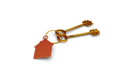 3d illustration of a key to the door, happiness, love and home Stock Photography