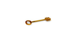 3d illustration of a key to the door, happiness, love and home Stock Photo