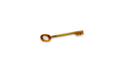 3d illustration of a key to the door, happiness, love and home Stock Photos