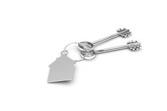 3d illustration of a key to the door, happiness, love and home Royalty Free Stock Image