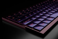 3d illustration of a keyboard. On a dark background Stock Photo