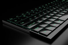 3d illustration of a keyboard. On a dark background Stock Images