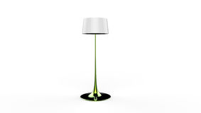 3d illustration of a lamp. 3d illustration of a green long standing lamp on a white background Stock Images