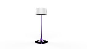 3d illustration of a lamp. 3d illustration of a purple long standing lamp on a white background Stock Image