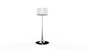 3d illustration of a lamp. 3d illustration of a silver  long standing lamp on a white background Royalty Free Stock Photo