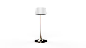 3d illustration of a lamp. 3d illustration of a white long standing lamp on a white background Royalty Free Stock Photography