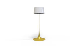 3d illustration of a lamp. 3d illustration of a yellow  long standing lamp on a white background Royalty Free Stock Photos