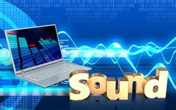 3d blank'sound' sign royalty free illustration