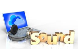 3d 'sound' sign blank Royalty Free Stock Photo