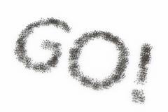 Human Crowd Forming GO vector illustration