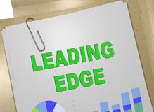 LEADING EDGE concept. 3D illustration of LEADING EDGE title on business document Royalty Free Stock Photo