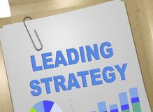 LEADING STRATEGY concept. 3D illustration of LEADING STRATEGY title on business document Royalty Free Stock Images