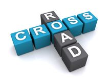 3d cross road sign Stock Photo