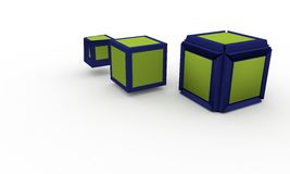 3d illustration level up cubes;  on white Royalty Free Stock Images