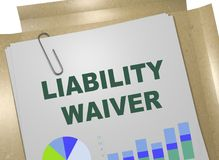 LIABILITY WAIVER concept. 3D illustration of LIABILITY WAIVER title on business document Stock Photo