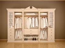 3d illustration of light classic wardrobe closet Royalty Free Stock Photos