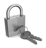 Lock with keys Royalty Free Stock Photo