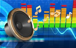 3d loud speaker notes Royalty Free Stock Photo