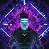 Virtual gamer man Royalty Free Stock Photo