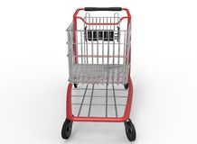 3d illustration of  mall shop cart. White background isolated. icon for game web Royalty Free Stock Images