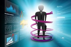 Man business success concept. 3d illustration of man business success concept Stock Photos