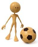 3d illustration man plays football Stock Image