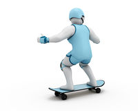 3D Illustration of a man Skateboarding Stock Photo