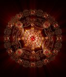 Mandala Spirit of Fire. 3d Illustration Mandala Spirit of Fire Stock Images