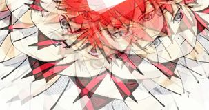 3d Illustration of Manga Faces. Digital 3d Illustration of Manga Faces Royalty Free Stock Photos