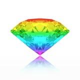 3D illustration many colors emerald round diamond gradient gemst Royalty Free Stock Image