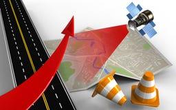 3d asphalt road Stock Image