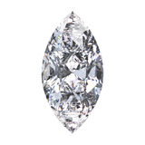 3D illustration marquise diamond stone. On a white background Stock Photo