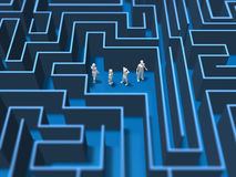 3D illustration of maze labyrinth Stock Photo