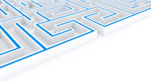 3D Illustration the maze, labyrinth concept 2 Stock Photo