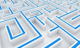 3D Illustration the maze, labyrinth concept 3 Stock Photos