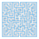 3D Illustration the maze, labyrinth top view Royalty Free Stock Photo